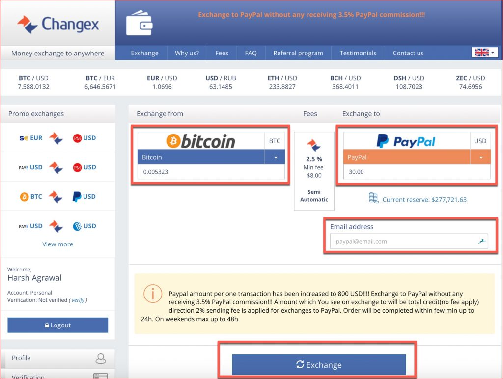 Exchange-Bitcoin-to-PayPal