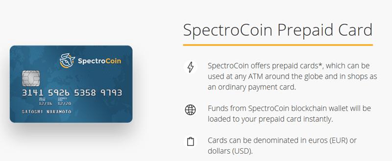 Spectrocoin Karte