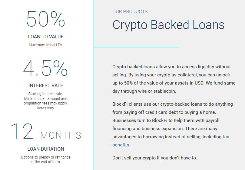 BlockFi-Bitcoin Kredite